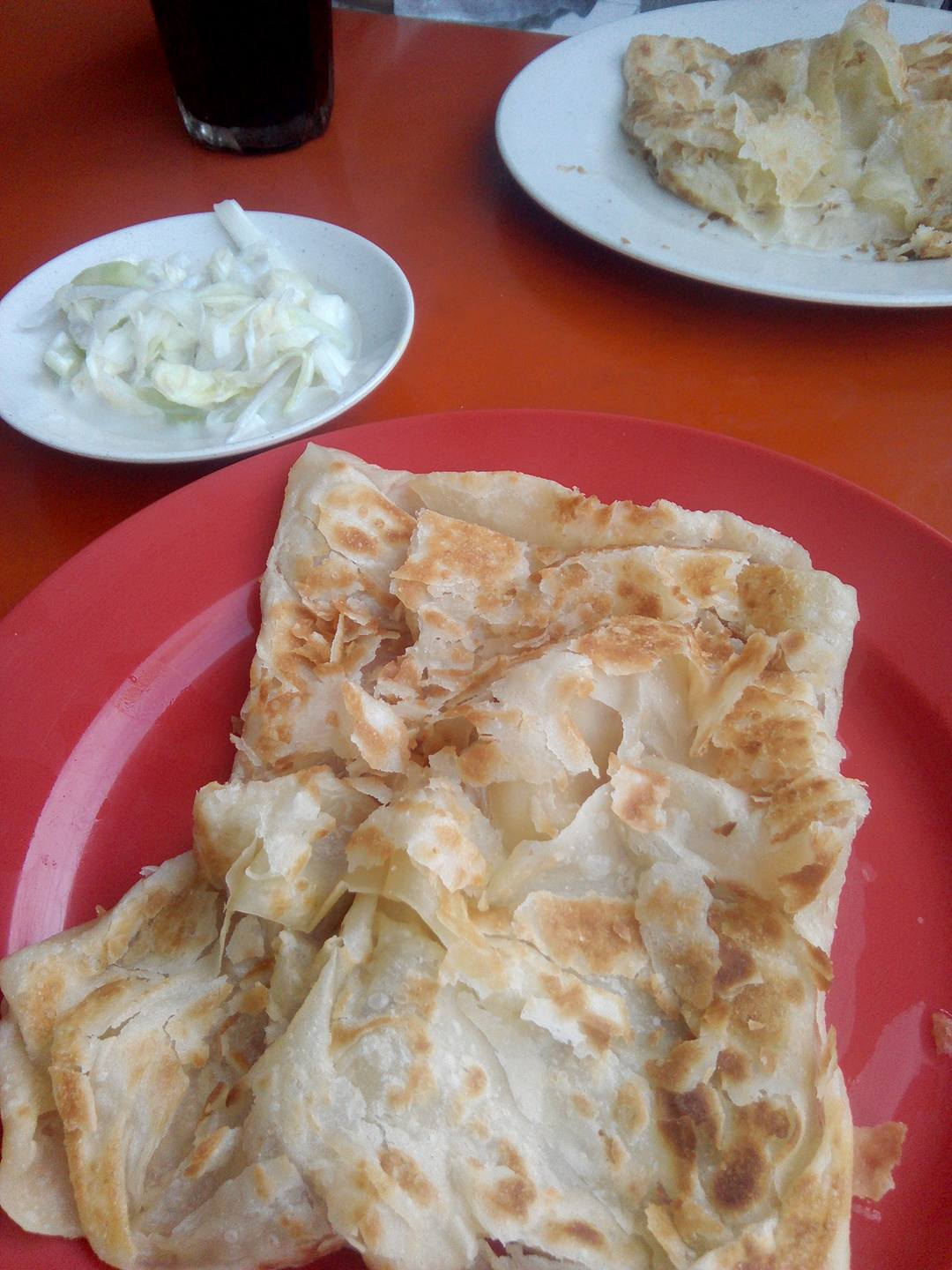 Today's breakfast: roti canai