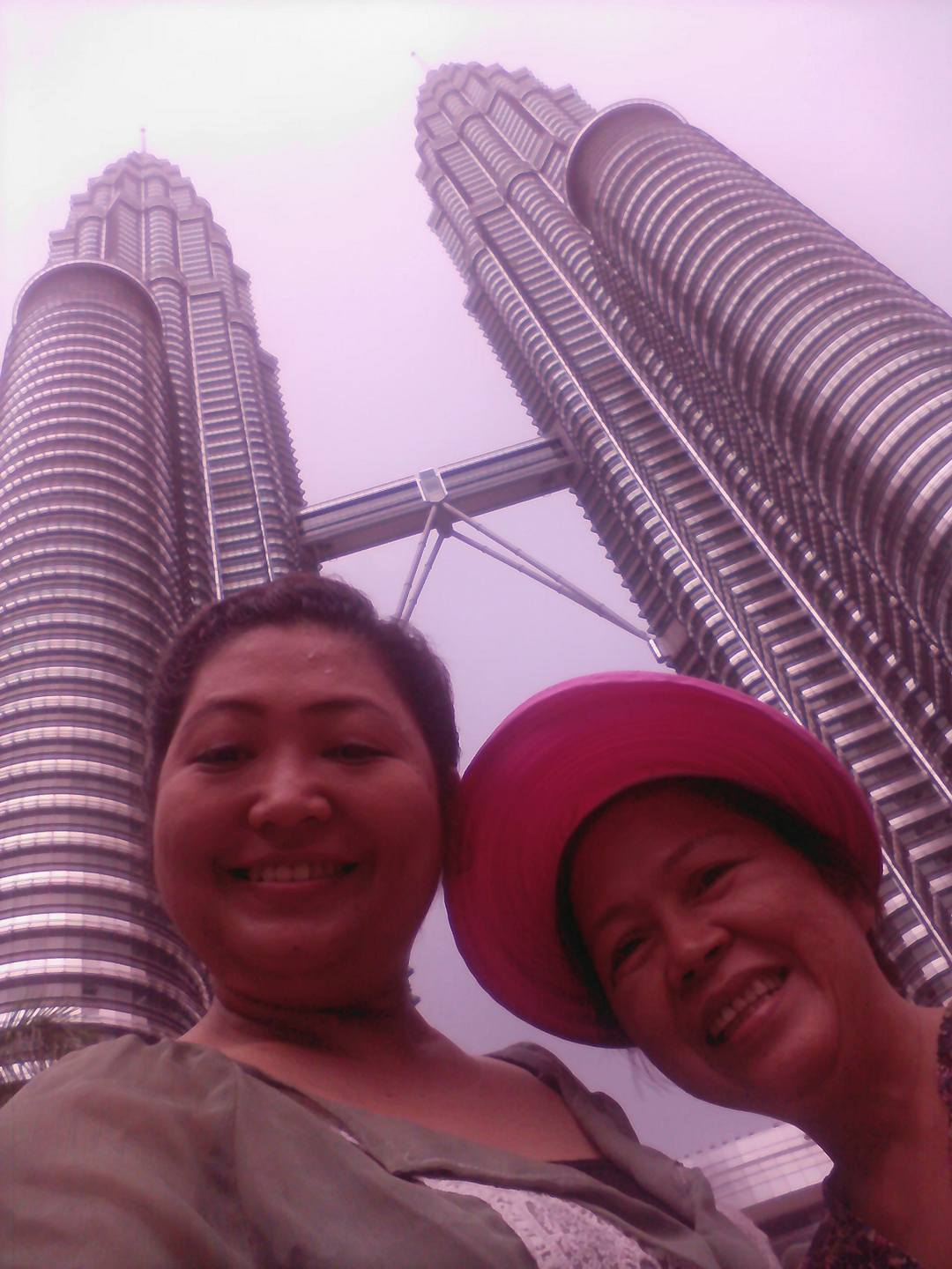 Revisiting Twin Tower with my Filipina friend, Rizza