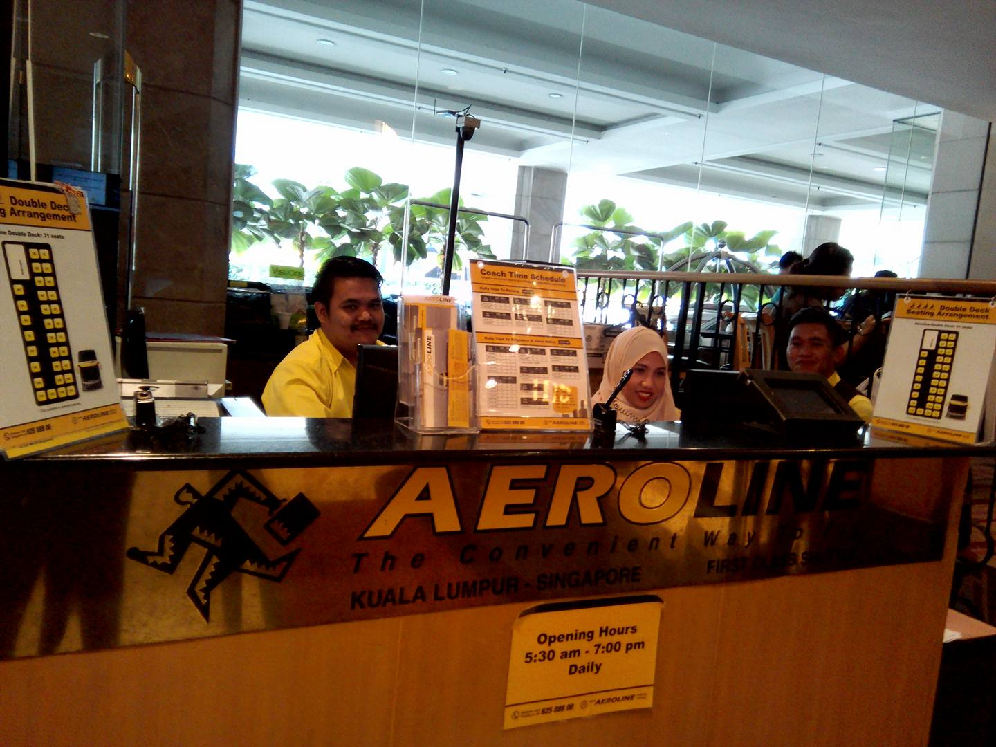 Aeroline Bus station at Corus Hotel