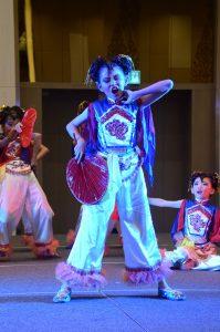 نمایش و رقص کودکان مدرسه چینی در لنکاوی