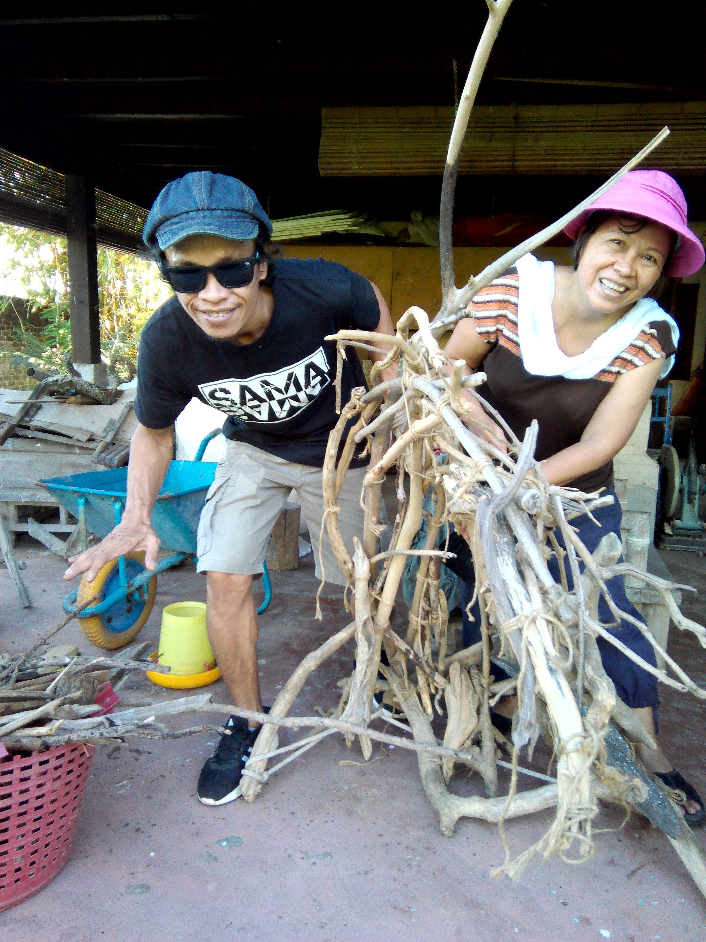 With Syahril Azwan Salleh, peeping through the driftwoods he gathered.