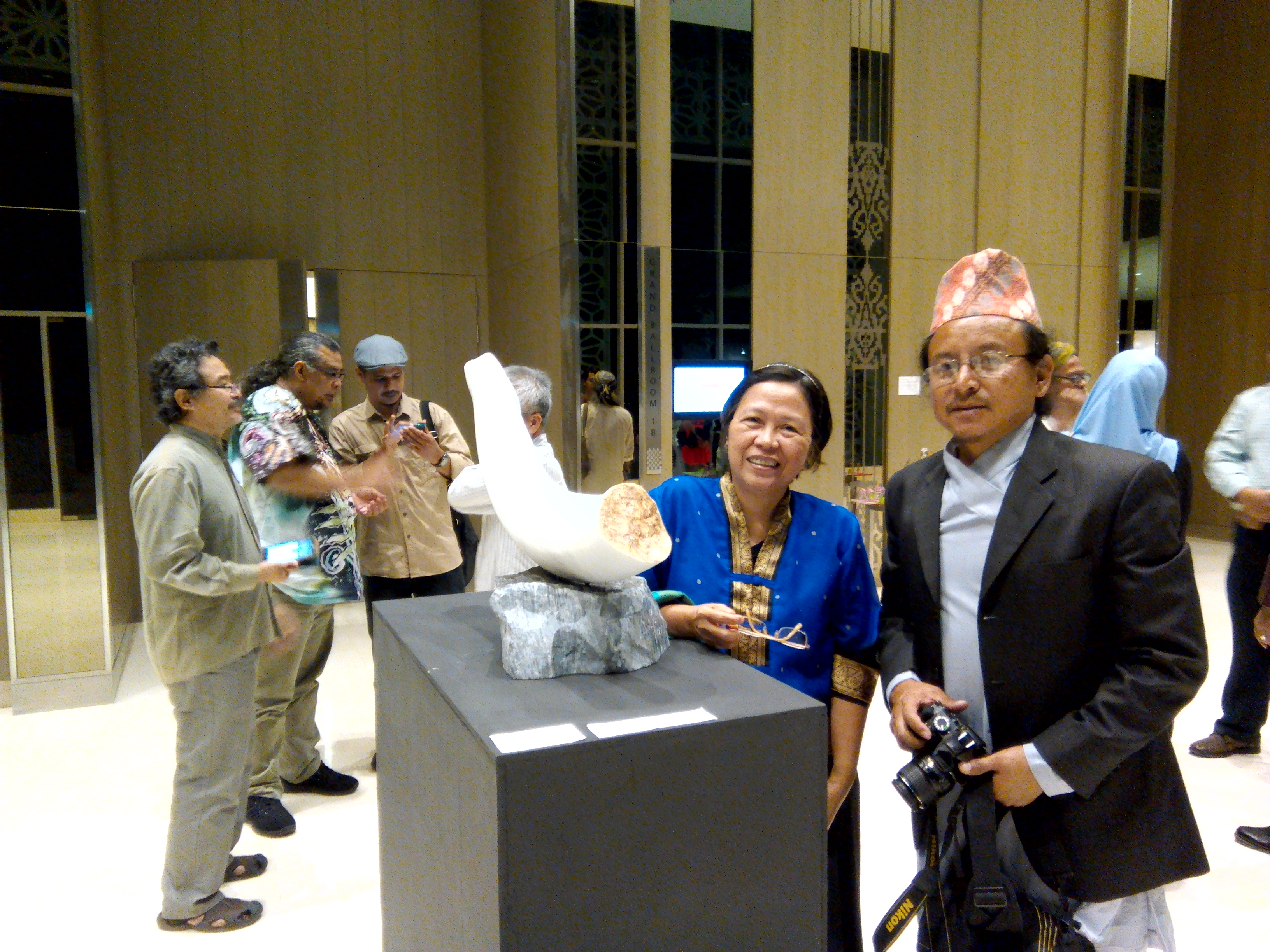 Raju and I beside his Journey sculpture during LAB2016 Inauguration Night