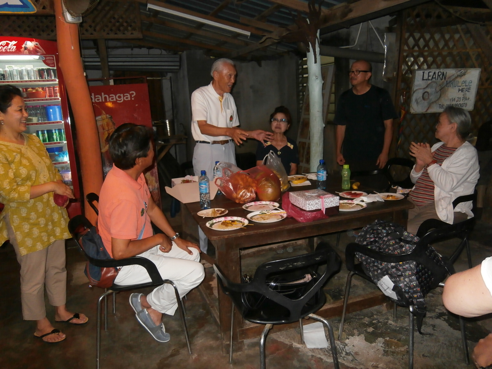 Celebrating Mr. Sadao Ishida's 90th birthday with the Langkawi Art Biennale participants